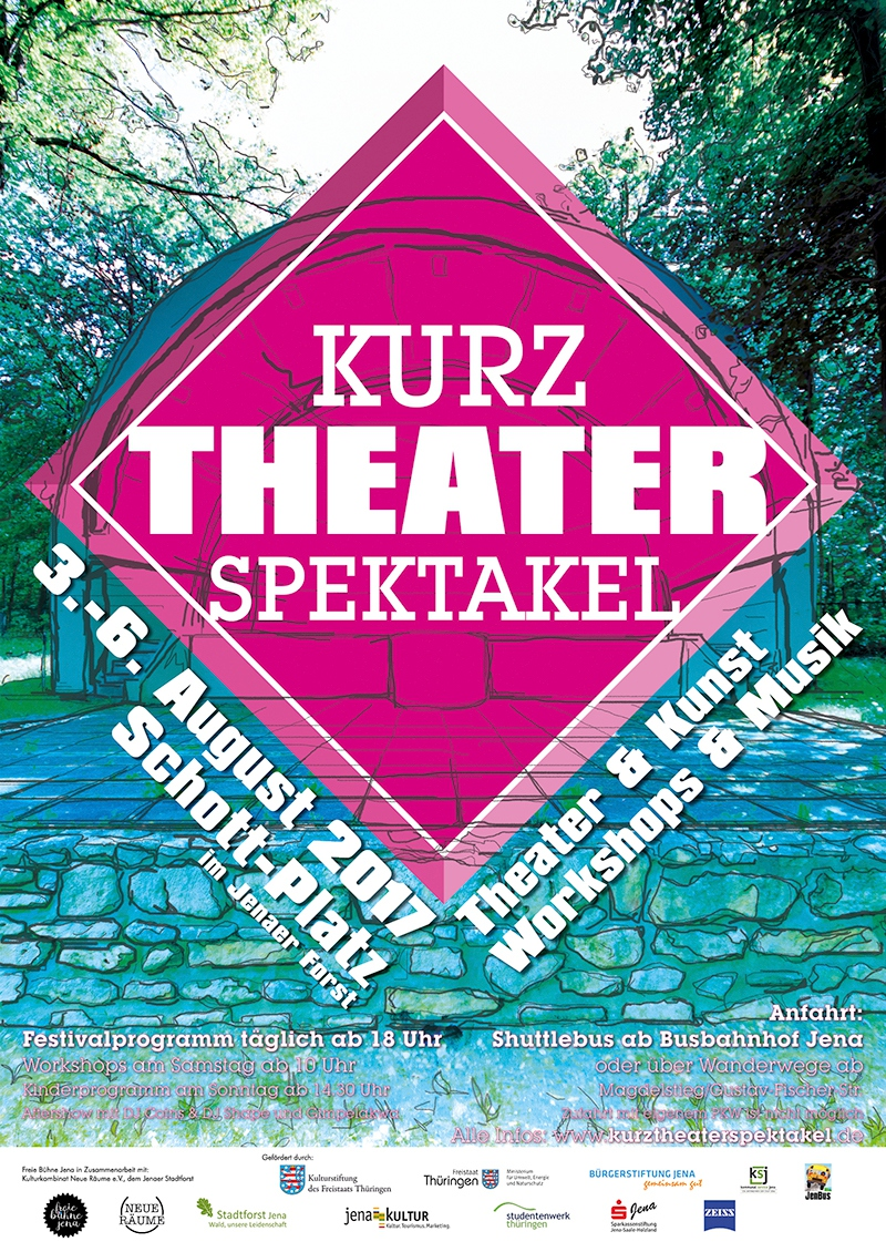 Plakat, Kurz.Theaterspektakel