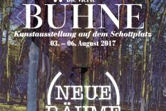 """Plakat, """"Die vierte Bühne"""" 2017"""