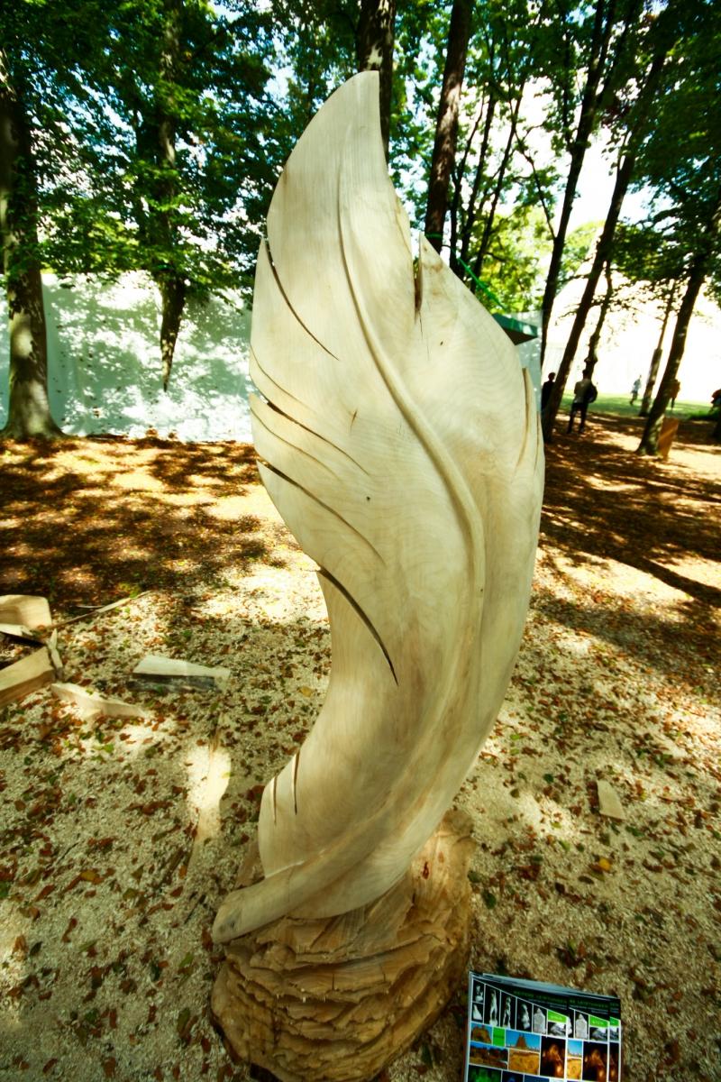 Monarch, Ahorn, Holzskulptur