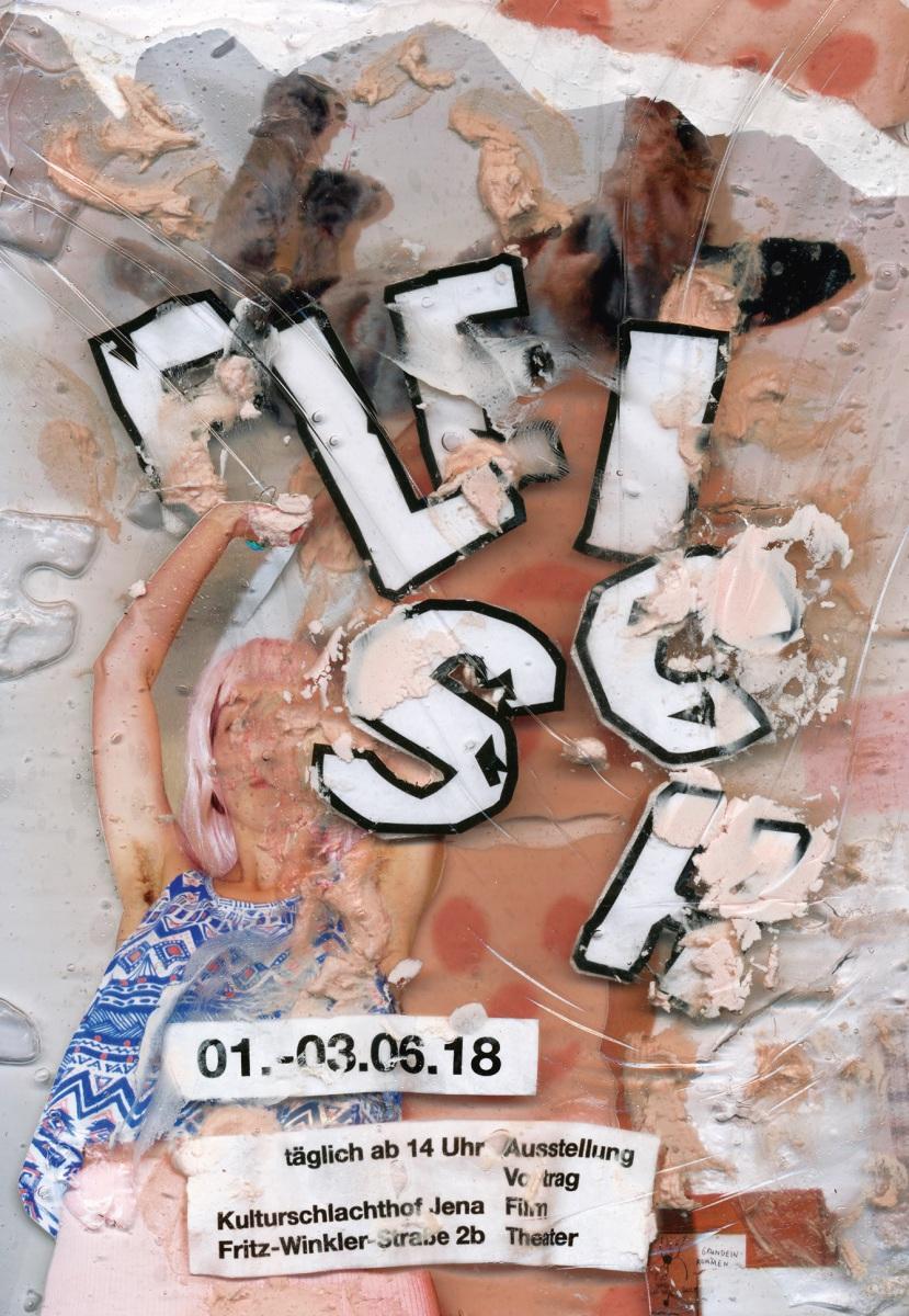 Fleisch-Postkarte