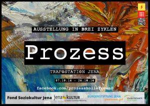 "Plakat zur Ausstellung ""Prozess"""